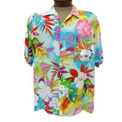 Men's Jams World® Short Sleeve Original Crushed Rayon Retro Aloah Shirt, Luua
