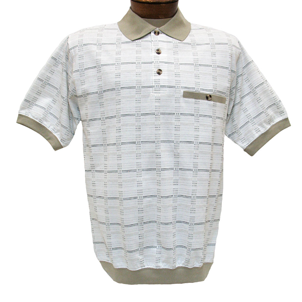 Mens Shirt Classics By Palmland Short Sleeve Knit Banded Bottom