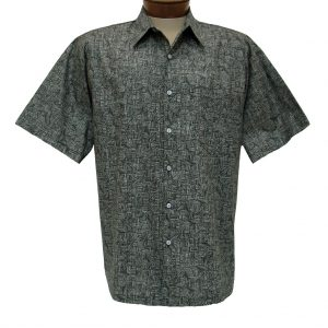 """Men's Shirt, Tori Richard Cotton Lawn Relaxed Fit Short Sleeve, Labryinth #6405 Black """"USE COUPON TR2 AT CHECK OUT"""""""