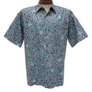 """Men's Shirt, Tori Richard Cotton Lawn Relaxed Fit Short Sleeve, Palazzo #6433 Grey """"USE COUPON TR2 AT CHECK OUT"""""""