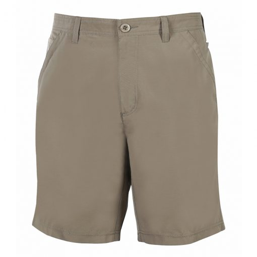 Men's Shorts, Weekender Flat Front Travel Stretch Technology, Sandalwood Khaki
