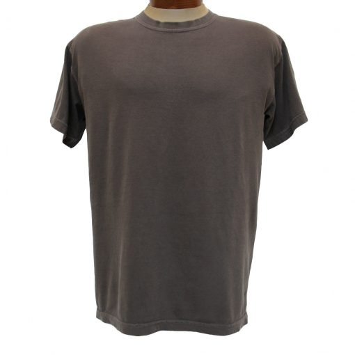 Men's Tee Shirt, R. Options by Basic Options Short Sleeve Pigment Dyed, Chocolate