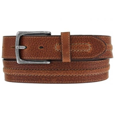 Men's Belt, Brighton Las Plams Leather, #M70904 Tan