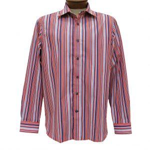 Men's Shirt, Brandolini 100% Cotton Long Sleeve With Contrast Trim, #923 Orange