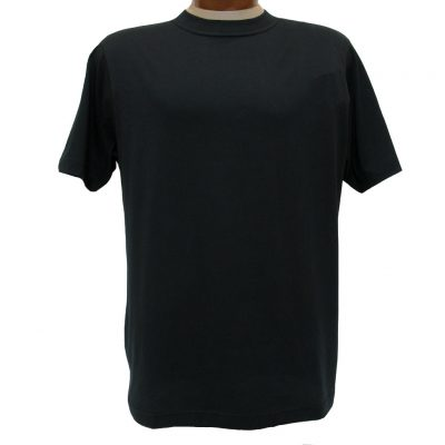 Men's Gionfriddo Short Sleeve 100% Pima Cotton Traditional Fit Crew Neck Tee #GK2004 Black