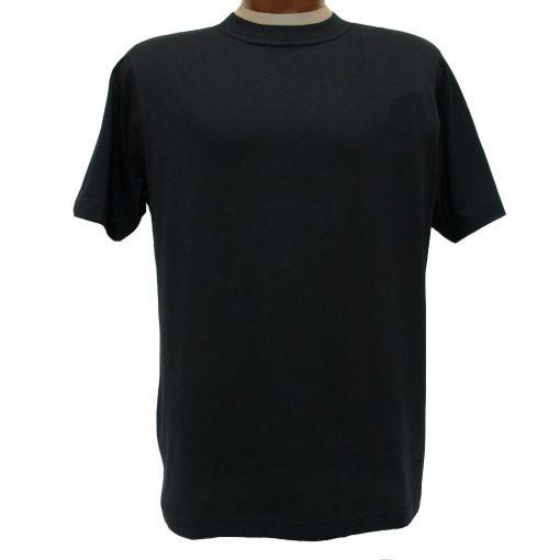 Men's Gionfriddo Short Sleeve 100% Pima Cotton Traditional Fit Crew Neck Tee #GK2004 Black