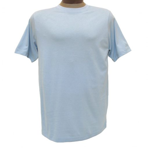 Men's Gionfriddo Short Sleeve 100% Pima Cotton Crew Neck Tee #GK2004 Lt. Blue