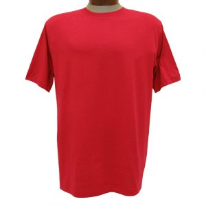 Men's Gionfriddo Short Sleeve 100% Pima Cotton Traditional Fit Crew Neck Tee #GK2004 Red