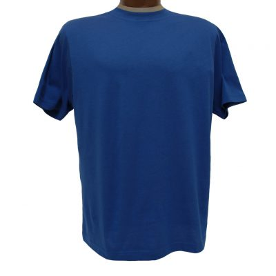 Men's Gionfriddo Short Sleeve 100% Pima Cotton Traditional Fit Crew Neck Tee #GK2004 Royal Blue