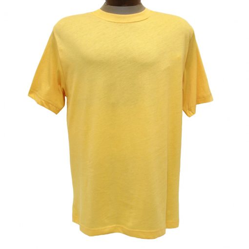 Men's Gionfriddo Short Sleeve 100% Pima Cotton Traditional Fit Crew Neck Tee #GK2004 Soft Yellow