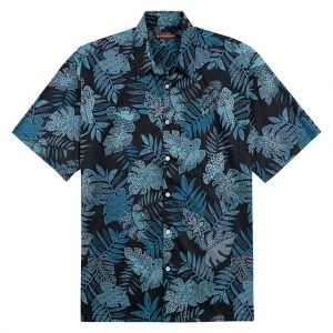 """Men's Tori Richard Cotton Lawn Relaxed Fit Short Sleeve Shirt, Zentangle  #6457 Black """"USE COUPON TR2 AT CHECK OUT"""""""