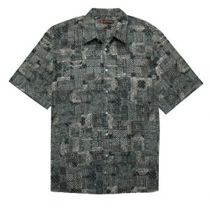 """Men's Tori Richard Cotton Lawn Relaxed Fit Short Sleeve Shirt, Wirework #MA03 Black """"USE COUPON TR2 AT CHECK OUT"""""""