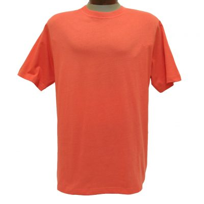 Men's Gionfriddo Short Sleeve 100% Pima Cotton Traditional Fit Crew Neck Tee #GK2004 Rust