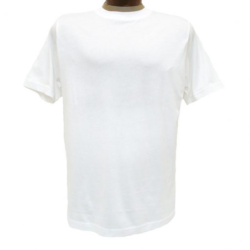 Men's Gionfriddo Short Sleeve 100% Pima Cotton Traditional Fit Crew Neck Tee #GK2004 White