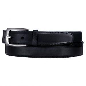 Men's Leather Belt By Brighton/Leegin, Norton Dress Satin Buckle #20303 Black