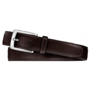 Men's Leather Belt By Brighton/Leegin, Norton Dress Satin Buckle #20308 Brown
