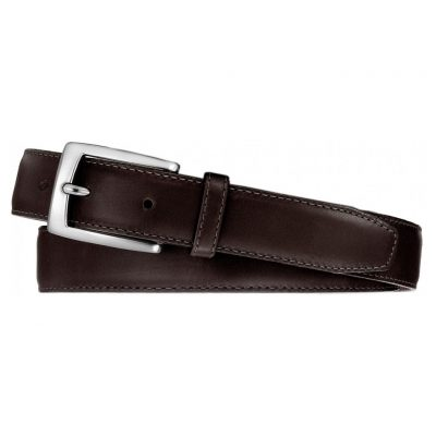Men's Belt By Brighton/Leegin, Norton Dress Satin Buckle Leathrt Belt #20308 Brown