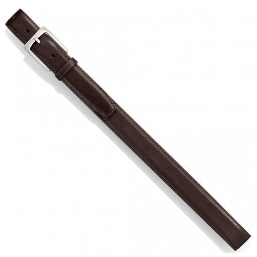 Men's Belt By Brighton/Leegin, Norton Dress Satin Buckle Leathrt Belt #20308 Brown