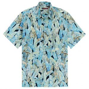 """Men's Tori Richard Cotton Lawn Relaxed Fit Short Sleeve Shirt, Quite Lush #6452 Black """"USE COUPON TR2 AT CHECK OUT"""""""