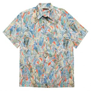"""Men's Shirt, Tori Richard Cotton Lawn Relaxed Fit Short Sleeve, Quite Lush #6452 Poppy """"USE COUPON TR2 AT CHECK OUT"""""""