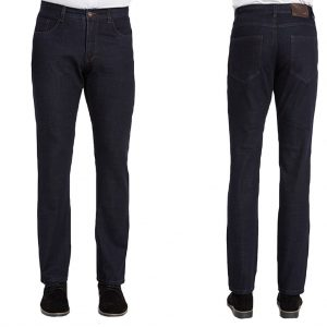 Men's ENZO Denim Collection 5 Pocket Jeans, Alpha-1 Dark Indigo