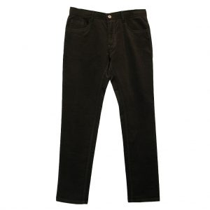 Mens Enzo Denim Collection Baby Whale Corduroy Jeans Alpha-114 Brown