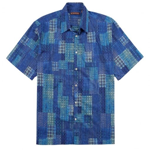 Men's Shirt, Tori Richard Cotton Lawn Relaxed Fit Short Sleeve, Promenade #6408 Navy