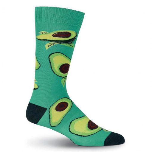 Men's K. BELL Novelty Crew Socks, Avocados Turquoise