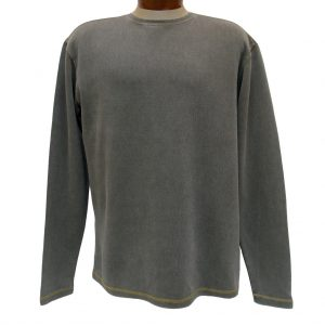Men's R. Options by Basic Options Long Sleeve Ribbed Pigment Dyed Tee, Bark (M, ONLY!)