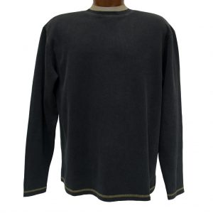 Men's R. Options by Basic Options Long Sleeve Ribbed Pigment Dyed Tee, Charcoal