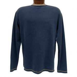 Men's R. Options by Basic Options Long Sleeve Ribbed Pigment Dyed Tee, Navy