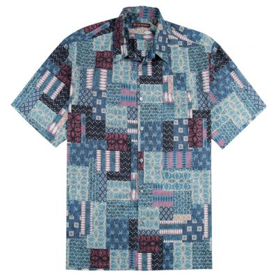 Men's Shirt, Tori Richard Cotton Lawn Relaxed Fit Short Sleeve, Yukata #MB00 Charcoal