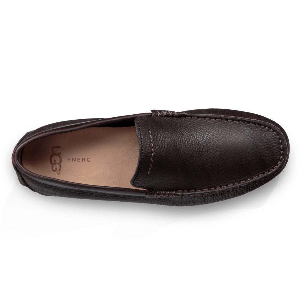 7efb06ebb26 Men's UGG Henrick Leather Driving Mock Shoe #1094355, Stout - Richard David  for Men