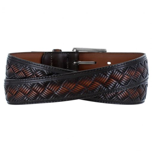 Men's Leather Belt By Brighton, Crosby #M11717 Cordovan
