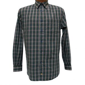 Men's F/X Fusion Long Sleeve Woven Wrinkle Resistant Sport Shirt, Olive Multi Plaid #D1023