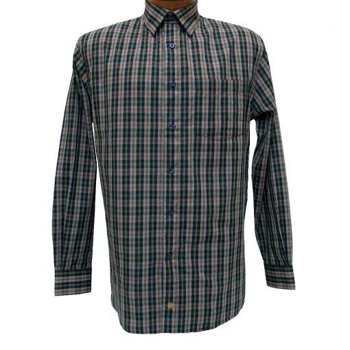 Men's F/X Fusion Long Sleeve Woven Wrinkle Resistant Sport Shirt, Olive Multi Plaid #D1023