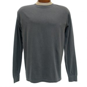 Men's R. Options by Basic Options Long Sleeve Pigment Dyed Tee, Charcoal