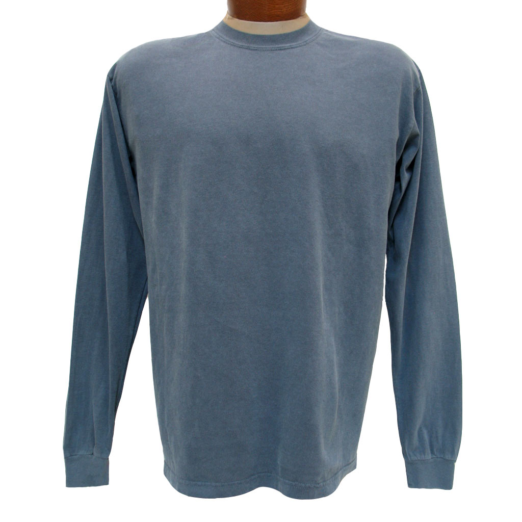 Men's R. Options by Basic Options Long Sleeve Pigment Dyed Tee, Ink Blue