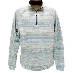Men's F/X Fusion Melange Space Dye Long Sleeve 1/4 Zip Mock Neck Sweater #960 Tan