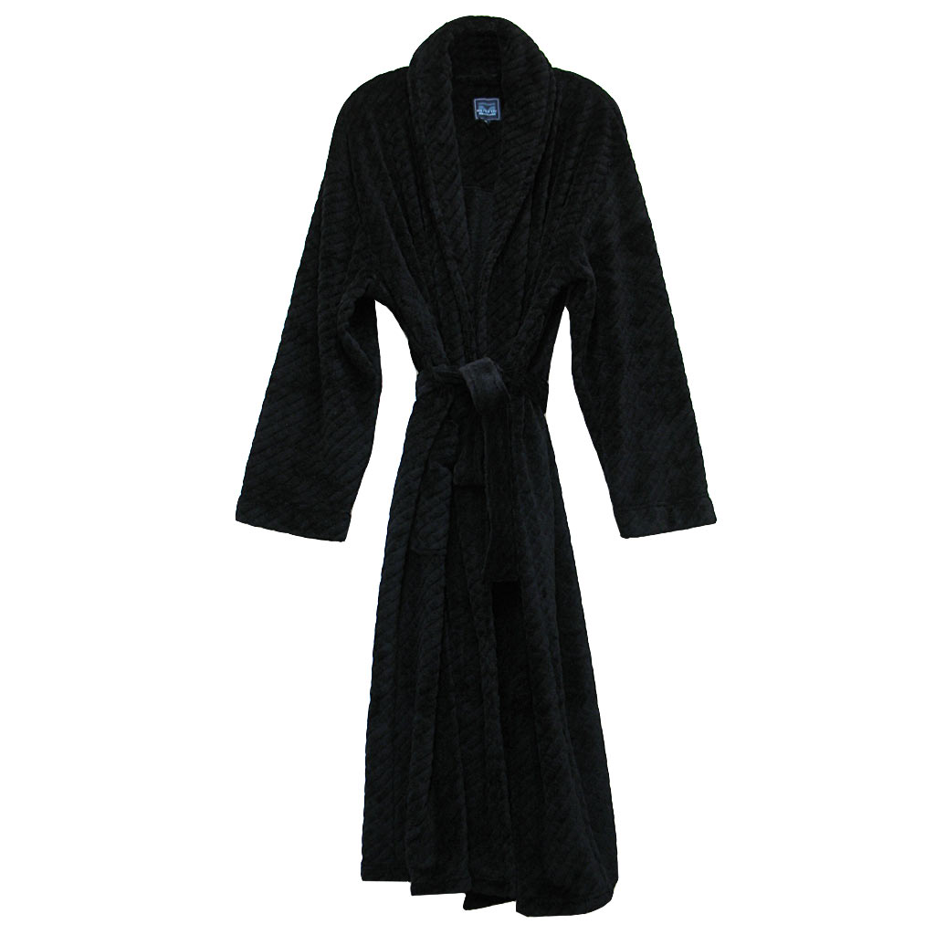 bf3d3a4c55 Majestic International Fireside Plush Fleece Shawl Collar Robe ...