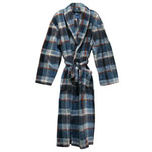 Men's Majestic International Mountains Of Comfort Plush Fleece Shawl Collar Robe, Coffee