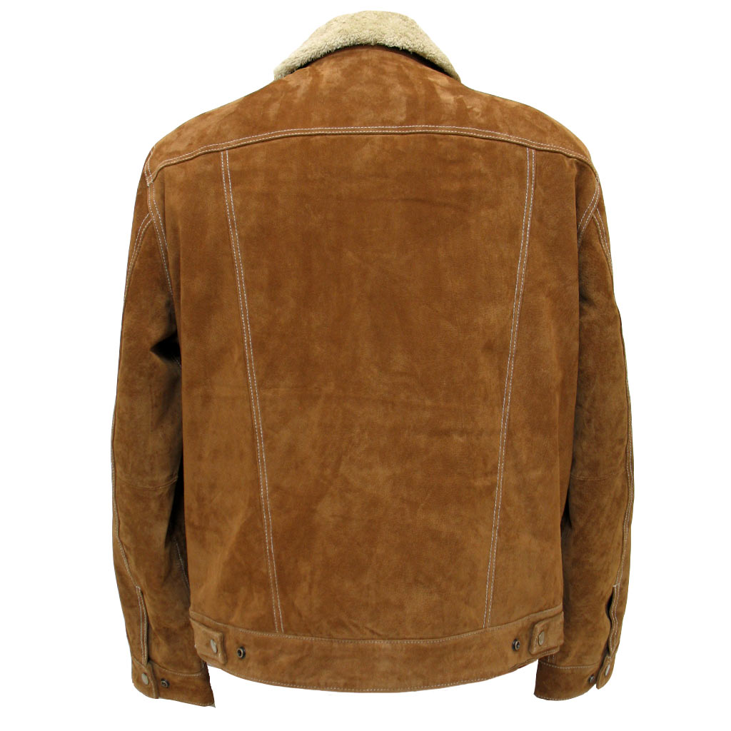 Men S Scully Boar Suede Snap Front Jean Jacket With Knit Inset 1015