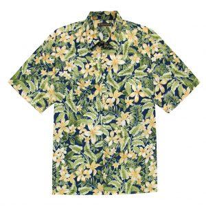 Men's Tori Richard Cotton Lawn Relaxed Fit Short Sleeve Shirt, Courtyard #6380 Navy (SALE ENDS, 11/17/18)