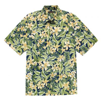 Men's Tori Richard Cotton Lawn Relaxed Fit Short Sleeve Shirt, Courtyard #6380 Navy