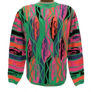 Men's Sweater By LaVane, Original Maker Of The Steven Land Textured Crew Neck Sweater, Made In The USA #161 Jelly Bean