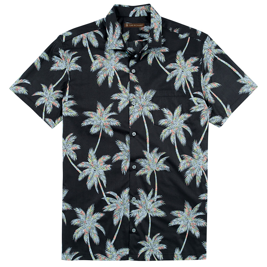 175a56eb4 Men's Tori Richard Brown Label Cotton Lawn Relaxed Fit Short Sleeve Shirt,  Carnaby Palm #
