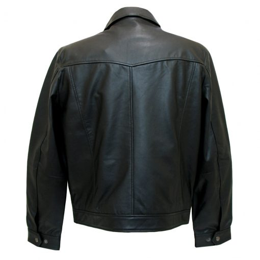 Men's Scully Leather Jacket, Premium Lightweight Lambskin #723-11 Black, SPECIAL PURCHASE!