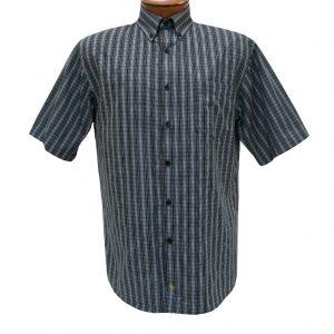 F/X Fusion Mens Shirt, Short Sleeve Woven Micro Check #D1071 Black (XL, ONLY)