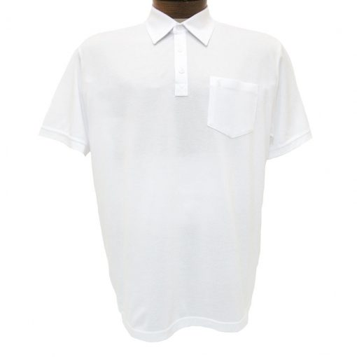 Men's Gabicci Vintage Polo Shirt, Short Sleeve Knit With Hard Collar, #Z05 White