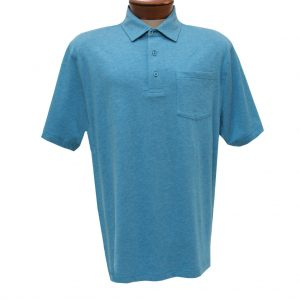 Men's Jon Randall Collection By F/X Fusion Short Sleeve Silk/Cotton Knit Polo Shirt, #JK101 Aqua (SOLD OUT!)